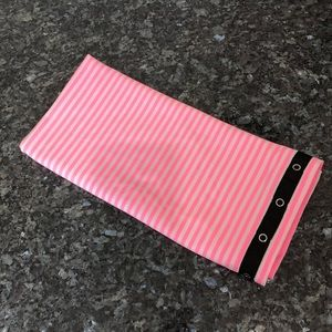 lululemon Vinyasa scarf striped pink and white